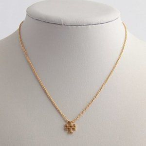 Tory Burch Logo Charm Delicate Necklace